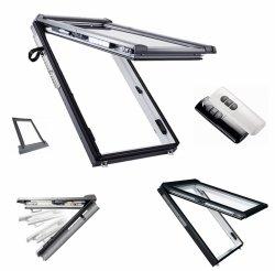 Okno dachowe Roto Designo i8 Comfort Okno uchylne, automatyczne i88C K2EF Okno z pakietem 2-szybowym Comfort, szkło hartowane i laminowane, plastikowe Uw = 1,1 Termo-blok WD