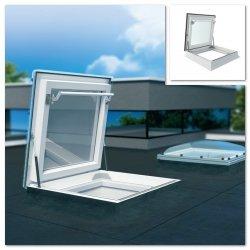 Fakro Okno wyłazowe do płaskiego dachu DRF DU6 bez kopuły,  Uw =0,74 W/m²K,