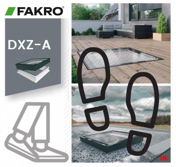Fakro Okno do płaskiego dachu DXZ-A P2 U=0,95 W/m²K, nieotwierane, z elementem szklanym zgrzewanym, szyba z pochyleniem.