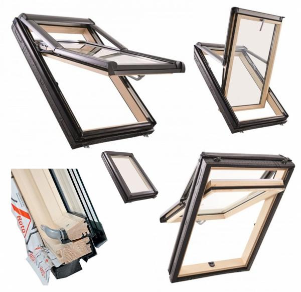 Okno Dachowe Roto Designo WDF R79 H WD Okno wysokoosiowe