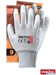 Rękawice powlekane białe rozmiar 5 RNYPO