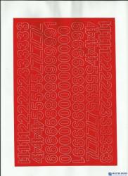 CYFRY samop. 2cm (8) czerwone ARTDRUK