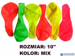 Balony 10 NEON MIX (100) KW TRADE 170-1604