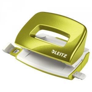 Dziurkacz Mini metalowy Leitz WOW, zielony, 10 lat gwarancji, 10 kartek 50601054