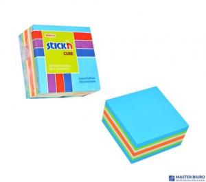 Bloczek samoprzylepny STICKN 51x51mm niebieski-mix neon i pastel 21535