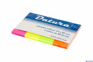 Zakładka indeksująca DATURA 20x50 4x40kartek brilliant (NSP20/50/D)