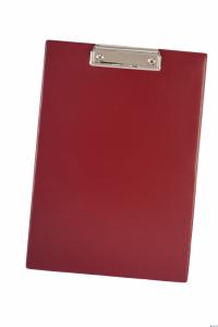 Deska z klipem DATURA A4 czerwona