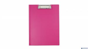 Teczka z klipsem A4 pink BIURFOL KKL-04-03 (pastel różowy )