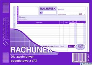 231-3 Rachunek A5 dla zw.z VAT (poziom)MICHALCZYK i PROKOP