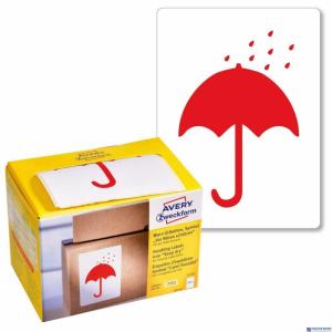 (WYCOFANE) Etykiety Chronić przed wilgocią 7252 74 x 100 Ostrzegawcze etykiety wysyłkowe Avery Zweckform w dyspenser