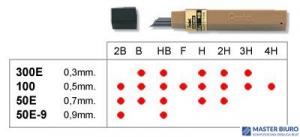 Grafity 0.9mm 2B        PENTEL