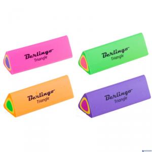 Gumka trójkątna Triangle termoplastyczna mix kolor BERLINGO