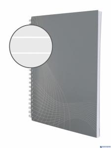 Kołonotatnik A5 Notizio linia jasno-szara 80k.ZF7010  op.karton.