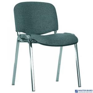 Krzesło konf.ISO chrome CU-73_szaro-czarny NOWY STYL