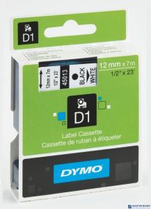 Taśma 12mm/7m czarny biała 45013 DYMO S0720530