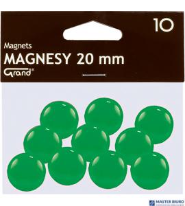 Magnesy 20mm GRAND zielone   (10)^ 130-1692