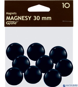Magnesy 30mm GRAND czarne    (10)^ 130-1694