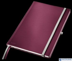 Notatnik twardy LEITZ STYLE A4 kratka ciemnoczerwony 44760028