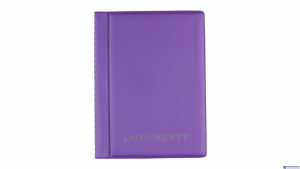 Okładka na dokumenty violet,1 BIURFOL KOD-04-05 duża