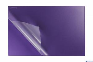 Podkład na biurko z folią 38x58 violet BIURFOL KPB-01-05