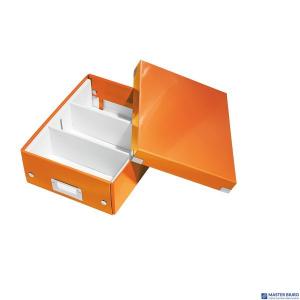 (WYCOFANE)Pudełko z przegródkami LEITZ C&S małe pomarańczowe 60570044 (X)