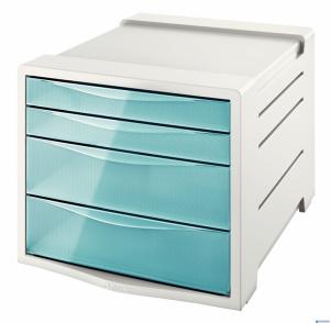Pojemnik z szufladami ESSELTE COLOURICE niebieski 626284