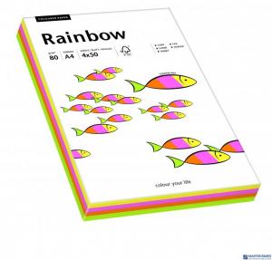 Papier ksero kolorowy RAINBOW mix pastelowy 100ark 88043187