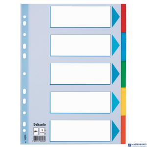 Przekładki karton A4 5 kart ESSELTE 100191 kolorowe z kartą opisową