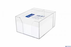 Kostka nieklejona pojemnik DATURA 85x85x50 biała
