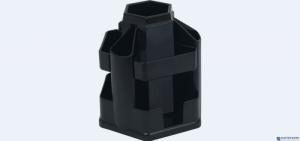 Przybornik na biurko EAGLE 370 B czarny obrotowy bez wyposażenia