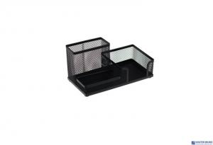 Przybornik na biurko DATURA siatka czarny 205x103x98mm