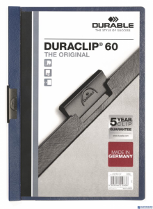Skoroszyt z klipem A4 DURABLE DURACLIP 1-60 kartek granatowy 220907