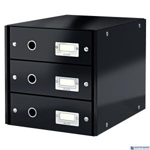 Pojemnik z 3 szufladami LEITZ C&S czarny 60480095