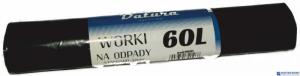 Worki na śmieci  60L 15szt/op  DATURA standard 32mic LDPE