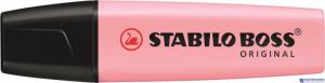 Zakreślacz STABILO BOSS pastelowy różowy 70/129