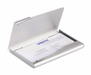 Wizytownik metalowy srebrny 241523 90x55mm
