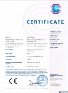 Maseczka ochronna KN95 FFP2 10szt biała Certyfikaty CE EN