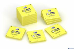 Bloczek samoprzylepne OXFORD spot notes 75x75 mm,  80 kartek, żółty OXFORD 400096929