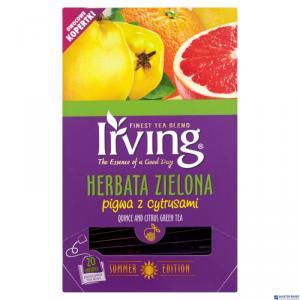 Herbata IRVING pigwa z cytrusami 20 kopert 1,5g zielona