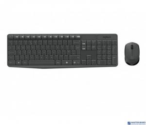 Klawiatura + mysz LOGITECH MK235 Wireless czarna bezprzewodowy zestaw 920-007931