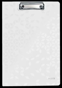 Deska z klipem i okładką Leitz WOW biała 41990001