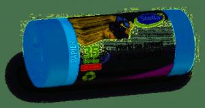 Worki do segregacji odpadów papier niebieski z uszami LDPE 35l (20szt.)  STELLA 032211