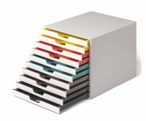 Pojemnik VARICOLOR z 10 kolorowymi szufladkami DURABLE 763027