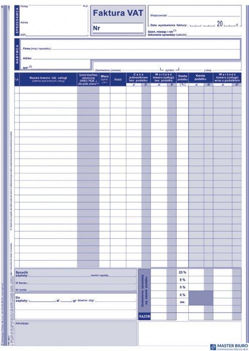 100-1N/E Faktura VAT A4-wielkp. MICHALCZYK i PROKOP
