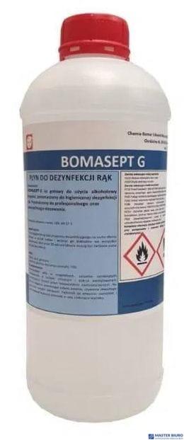 Płyn do dezynfekcji rąk 1l BOMASEPT G alkohol>70% gliceryna 5% medyczny 8%VAT