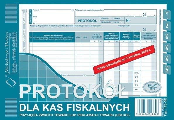 173-3E Protokół dla kas fisk. (zwrot/reklamacja) MiP