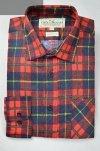Flanelowa koszula czerwona w żółtą kratkę