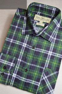 Flanelowa koszula zielona w kratkę