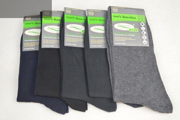 Skarpety bezuciskowe mix kolorów 5 par