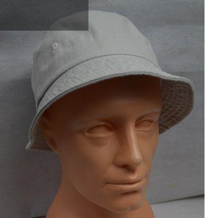 Kapelusz bawełniany bucket hat szary.
